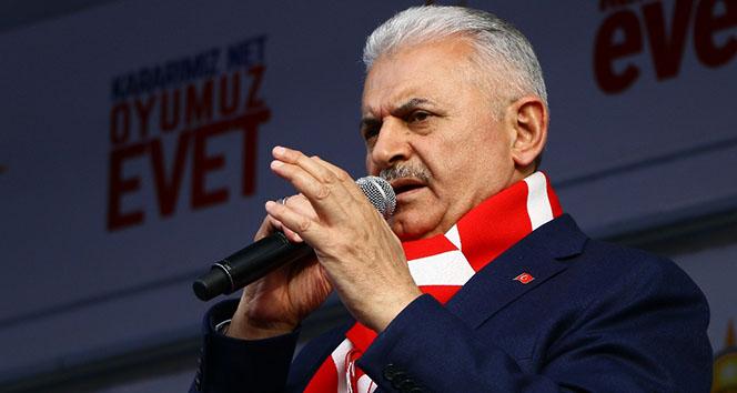 Başbakan Yıldırım İzmir'den seslendi: 'Haddinizi bilin'