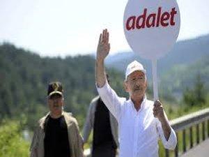 Kılıçdaroğlu, Adalet Yürüyüşü'nün 16. gününü tamamladı