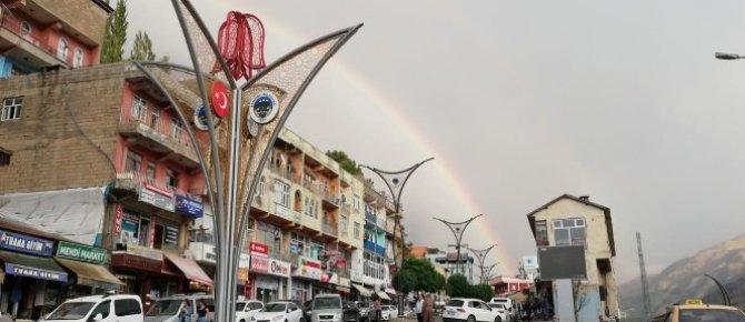 Şemdinli'de gökkuşağı güzelliği