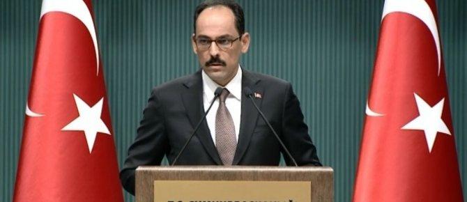 Cumhurbaşkanlığı Sözcüsü Kalın: 'Türkiye, 3 terör örgütüyle aynı anda mücadele etmeye devam ediyor'