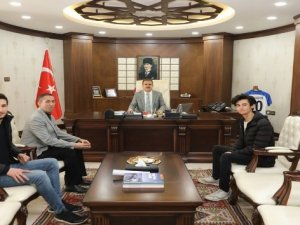Drone tasarlayan Tüner'den Vali Akbıyık'a ziyaret
