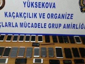 Yüksekova'da cep telefonu kaçakçılığı