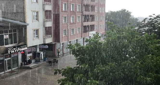 Muradiye aniden bastıran yağmur serinletti