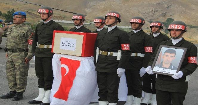 Şehit güvenlik korucusu için tören düzenlendi