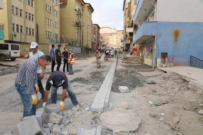 Hakkari Altay Caddesi asfalt için hazırlanıyor