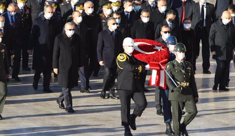 Anıtkabir'de 10 Kasım töreni