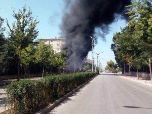 Karayolları Bölge Müdürlüğü bahçesinde korkutan yangın