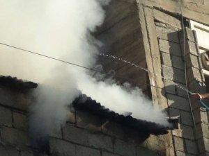 Kalorifer kazanı dairesinde çıkan yangın korkuttu