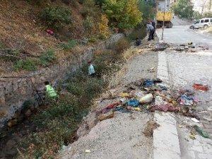 Şemdinli Belediyesinden dere temizliği