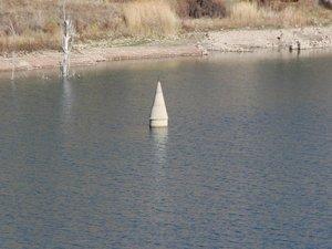 Sular çekildi, minare ortaya çıktı