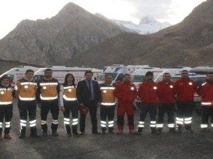 112 Acil Servis ekipleri kışa hazır