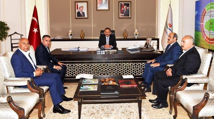 Belediyespor yöneticilerinden Bakan Özhaseki'ye ziyaret