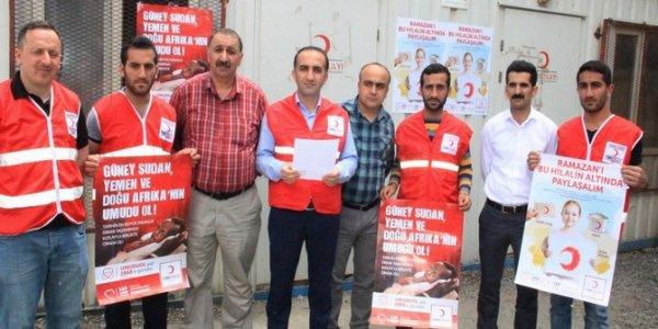 Hakkari Kızılay'dan basın açıklaması