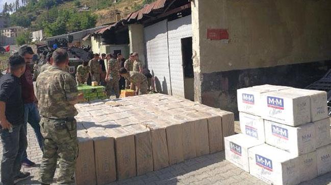 Şemdinli'de 36 bin 500 Paket Kaçak Sigara Yakalandı