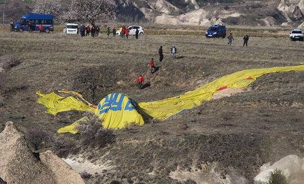 Kapadokya'da balon düştü: 1 ölü, 6 yaralı var